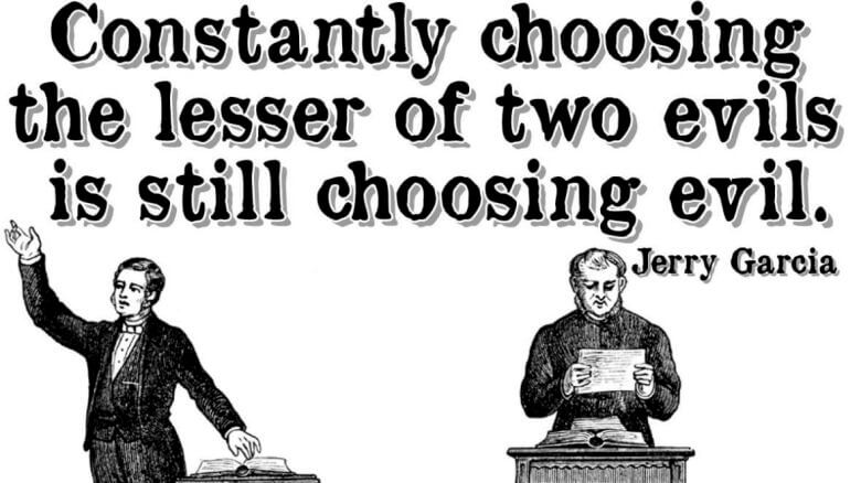 Managed democracy still involves choosing between the lesser of two evils.